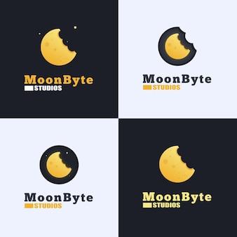Moon byte logo design
