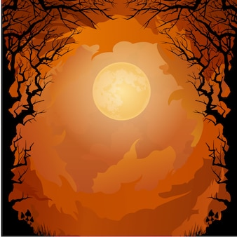 Moonlight halloween-hintergrund