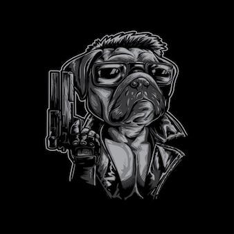 Mops hund assasin