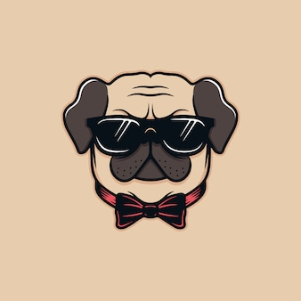 Mops hund illustration