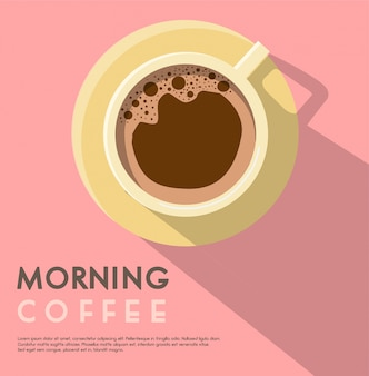Morgen kaffee poster