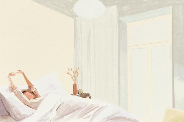 Morgenzeithintergrundfarbbleistiftillustration