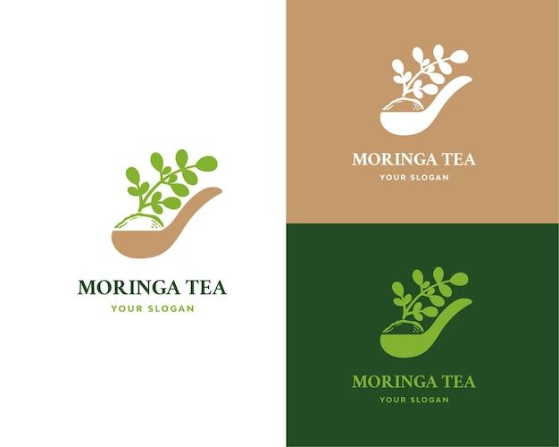 Moringa-tee-logo Premium Vektoren