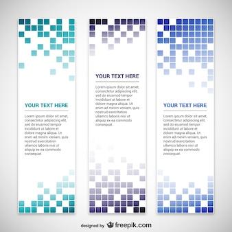 Mosaic banner-vorlagen
