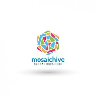 Mosaic logo-vorlage