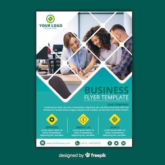Mosaik business flyer vorlage