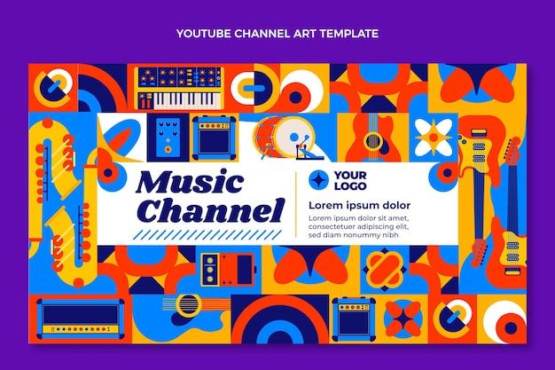 Mosaik-musikfestival im flachen design