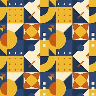 Mosaikmuster im flachen design