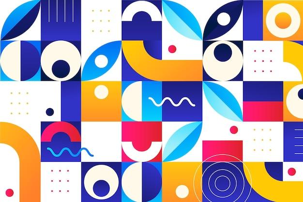 Mosaiktapete mit farbverlauf