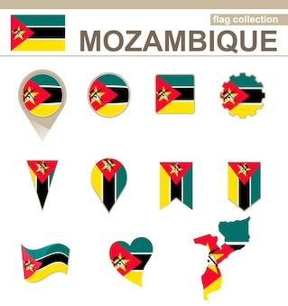 Mosambik flaggenkollektion, 12 versionen