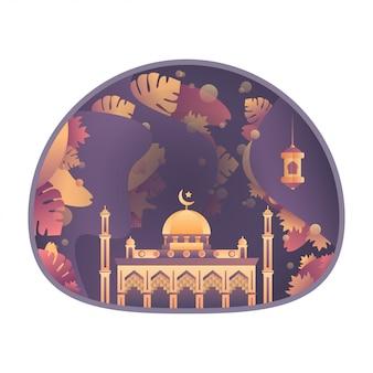 Moschee dekorative illustration