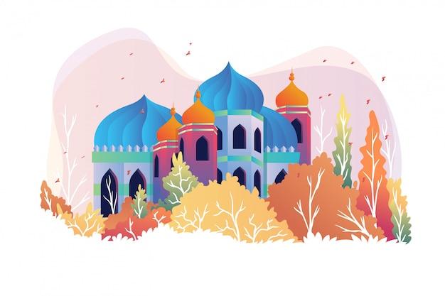 Moschee im herbst