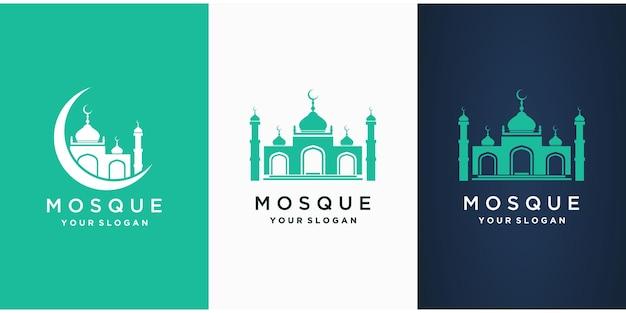 Moschee islamisches ramadan logo