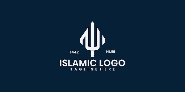 Moschee logo template design vektor, emblem, konzeptdesign, kreatives symbol