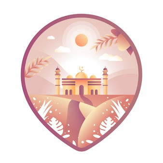 Moschee pin illustration