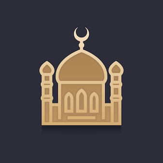 Moschee-vektor-illustration