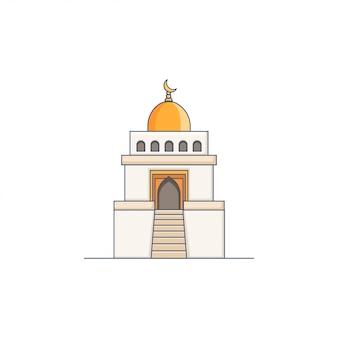 Moscheen-ikonen-illustrations-goldhauben-vektor