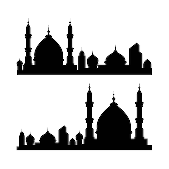 Moslemische gebäudevektorillustration