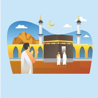 Moslemische hadsch-pilgerfahrt