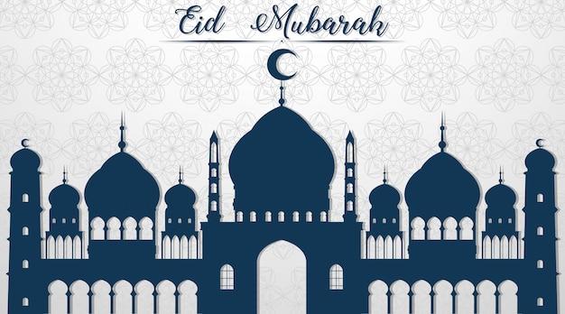 Moslemischer festival eid mubarak-hintergrund