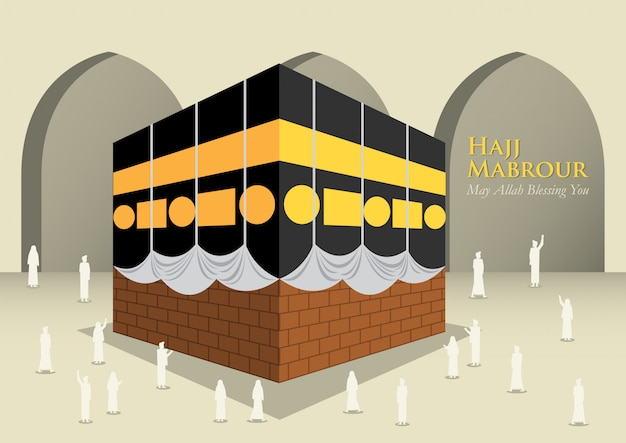 Moslems in der kaaba