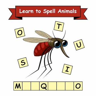 Mosquito learn spell animals arbeitsblatt