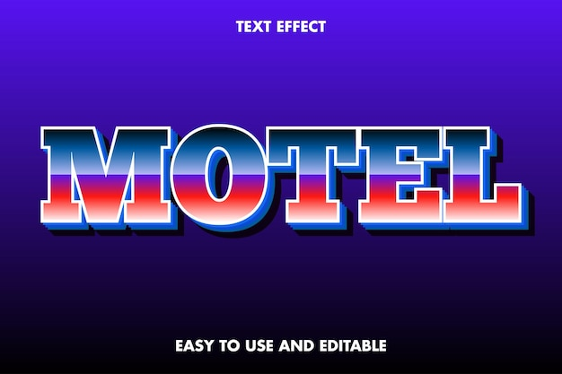 Motel-texteffekt. einfach zu bedienen und bearbeitbar.