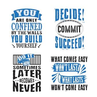 Motivation quote und sprichwort für grafische waren