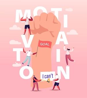 Motivations- und aspirationsillustration