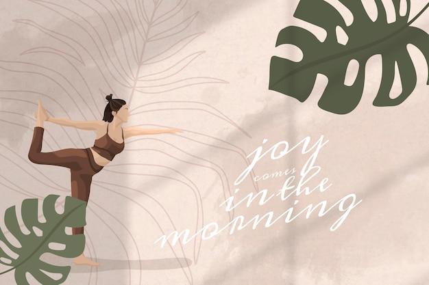 Motivationszitat editierbare vorlage vektor gesundheit und wellness yoga frau farbe blumen social media post media