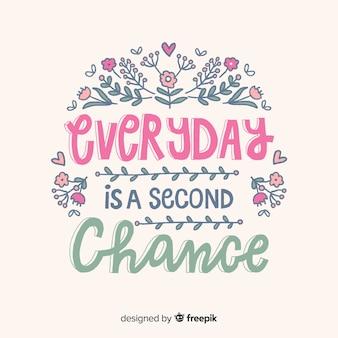Motivationszitat über zweite chancen