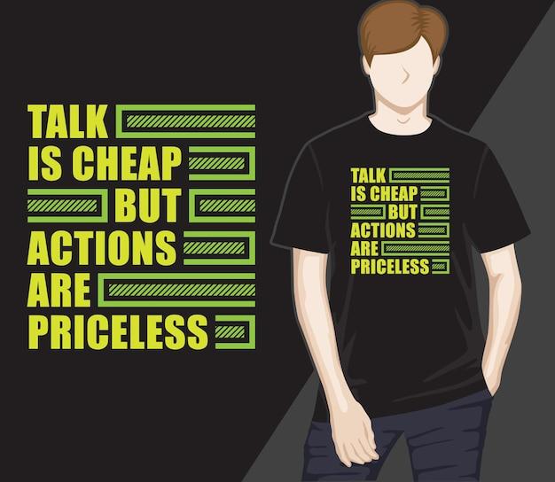 Motivierendes modernes typografie-t-shirt-design