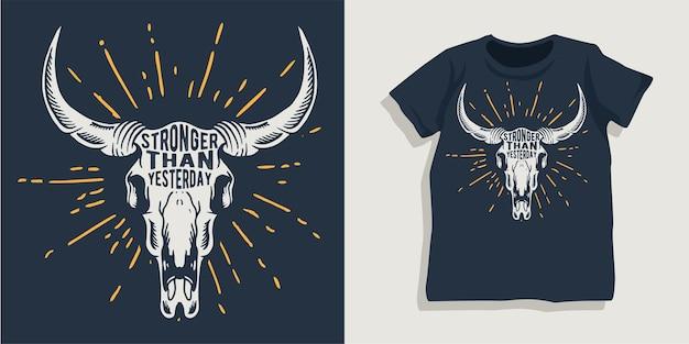 Motivierendes t-shirt-design mit schriftzug