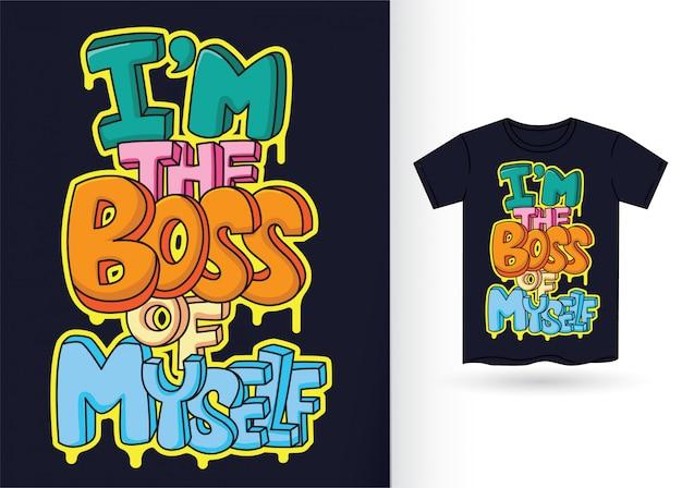 Motivtypographie für t-shirt