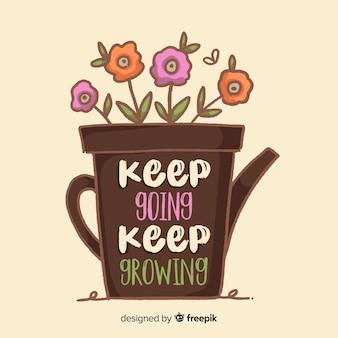Motivzitat über das wachsen