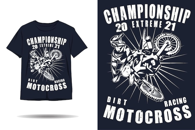 Motocross extreme meisterschaft silhouette t-shirt design