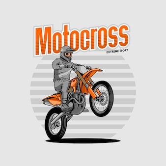 Motocross extreme sport
