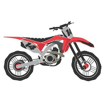 Motocross-extremsport. abenteuer auf dem rennrad