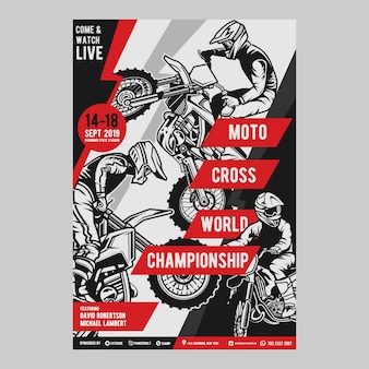 Motocross flyer vorlage