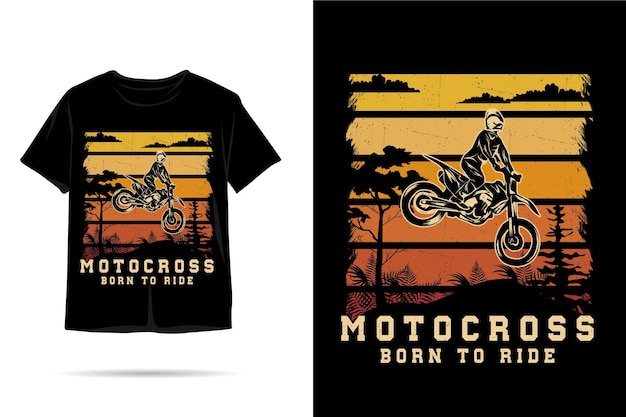 Motocross geboren, um silhouette-t-shirt-design zu fahren