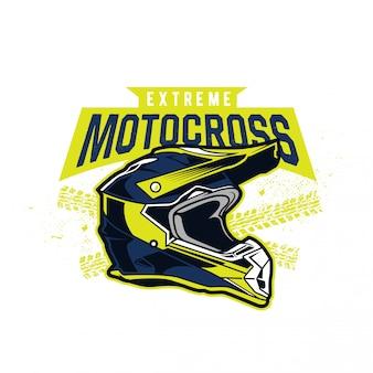Motocross-helm