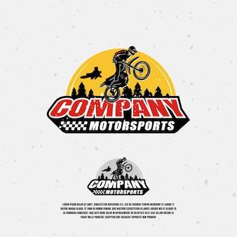 Motocross-illustration Premium Vektoren