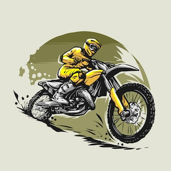 Motocross-illustration