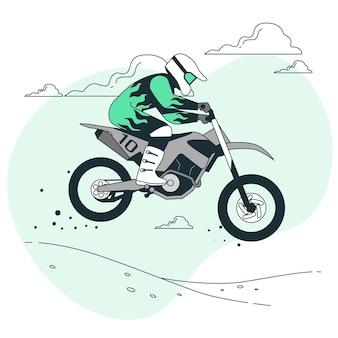 Motocross-konzeptillustration