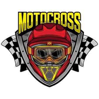 Motocross-rennschädelhelm