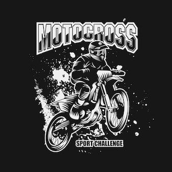 Motocross-sport herausforderung vektor-illustration