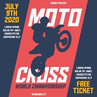 Motocross-weltmeisterschaft flyer vorlage