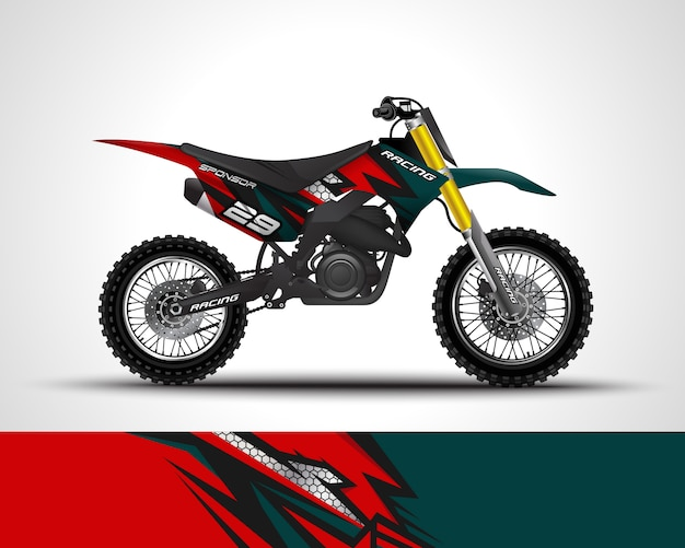 Motocross wickelaufkleber und vinylaufkleber