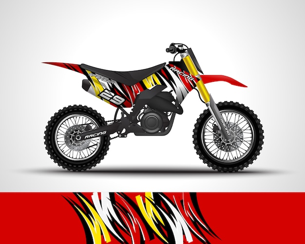 Motocross wrap aufkleber illustration