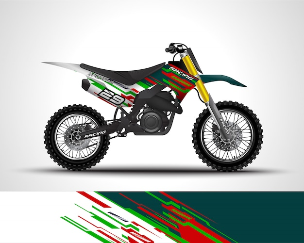 Motocross wrap aufkleber und vinyl aufkleber illustration.